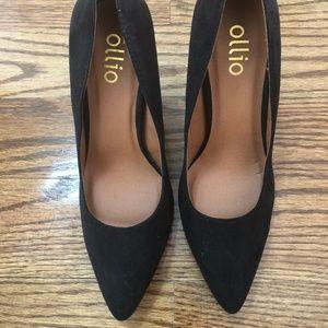 Ollio Black High Heels 6.5
